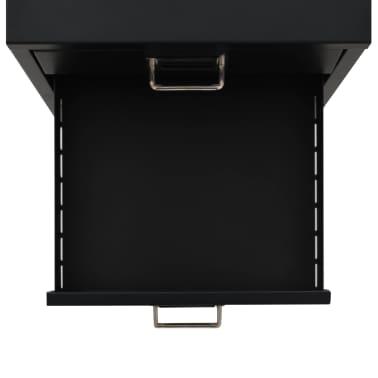 vidaXL Aktenschrank mit 5 Schubladen Metall 28 x 35 x 35 cm Schwarz[4/9]