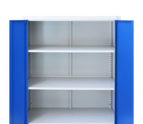 Armadio Metallico Per Ufficio.Vidaxl Armadio Per Ufficio In Metallo 90x40x180 Cm Grigio E Blu