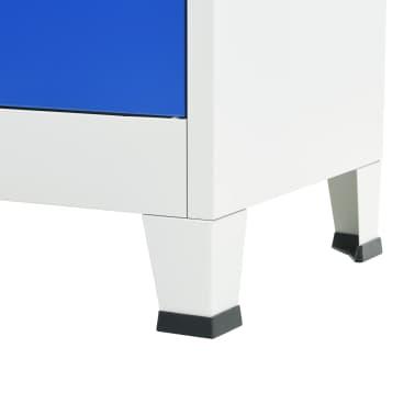 vidaXL Armário de escritório 90x40x180 cm metal cinzento e azul[6/8]