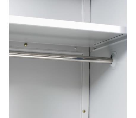 "vidaXL Locker Cabinet with 2 Doors Metal 35.4""x15.7""x70.9"" Gray and Blue[6/8]"