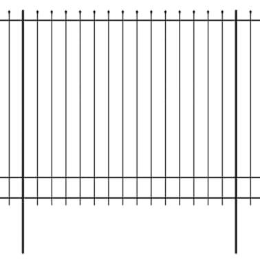 vidaXL fekete hegyes végű biztonsági acélkerítés 600 x 200 cm[1/5]