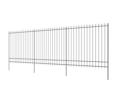 vidaXL Valla de seguridad estacada con puntas acero negro 600x200 cm[3/5]