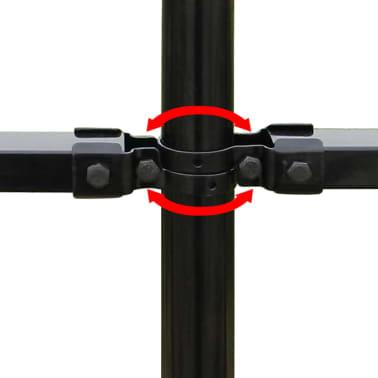 vidaXL fekete hegyes végű biztonsági acélkerítés 600 x 200 cm[5/5]
