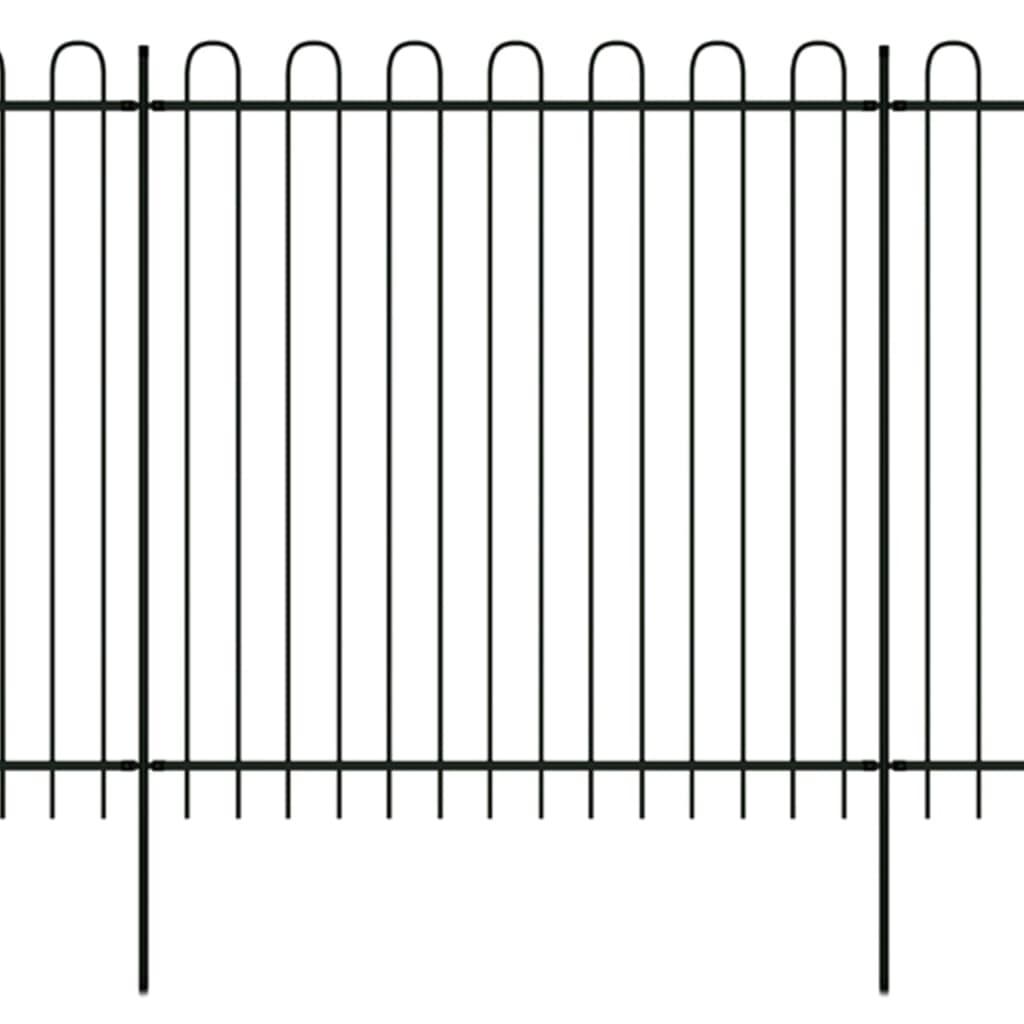 vidaXL Okrasný bezpečnostní plot ocelový s obloučky 600 x 200 cm