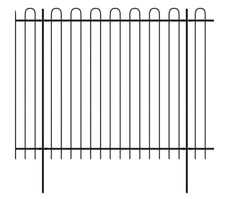 vidaXL Valla de seguridad estacada con puntas de aro acero 600x200 cm