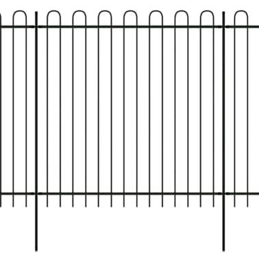 vidaXL fekete biztonsági acélkerítés kengyel alakú véggel 600 x 200 cm[1/5]