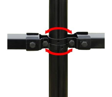 vidaXL fekete biztonsági acélkerítés kengyel alakú véggel 600 x 200 cm[5/5]