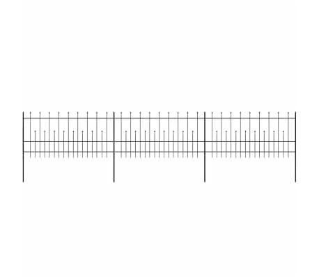 vidaXL Palizzata di Sicurezza Appuntita in Acciaio 600x100 cm Nera[2/5]