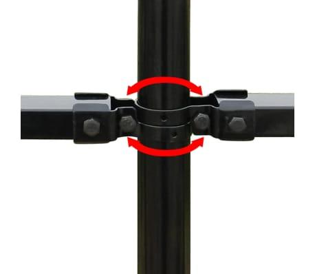 vidaXL Valla de seguridad estacada con puntas acero negro 600x200 cm[5/5]