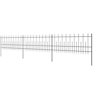 vidaXL Palizzata di Sicurezza Appuntita in Acciaio 600x100 cm Nera[3/5]