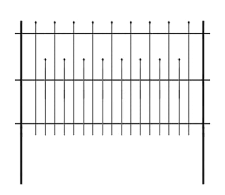 vidaXL Hek palissade met puntige bovenkant 600x120 cm staal zwart