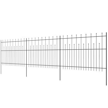 vidaXL Palizzata di Sicurezza Appuntita in Acciaio 600x150 cm Nera[3/5]