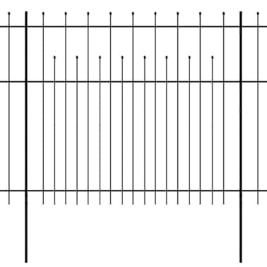 vidaXL Palizzata di Sicurezza Appuntita in Acciaio 600x175 cm Nera[1/5]