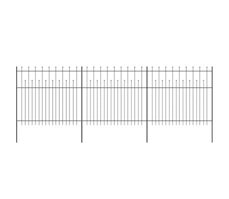 vidaXL Palizzata di Sicurezza Appuntita in Acciaio 600x175 cm Nera[2/5]