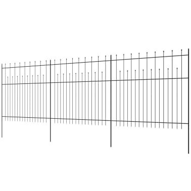 vidaXL Palizzata di Sicurezza Appuntita in Acciaio 600x175 cm Nera[3/5]