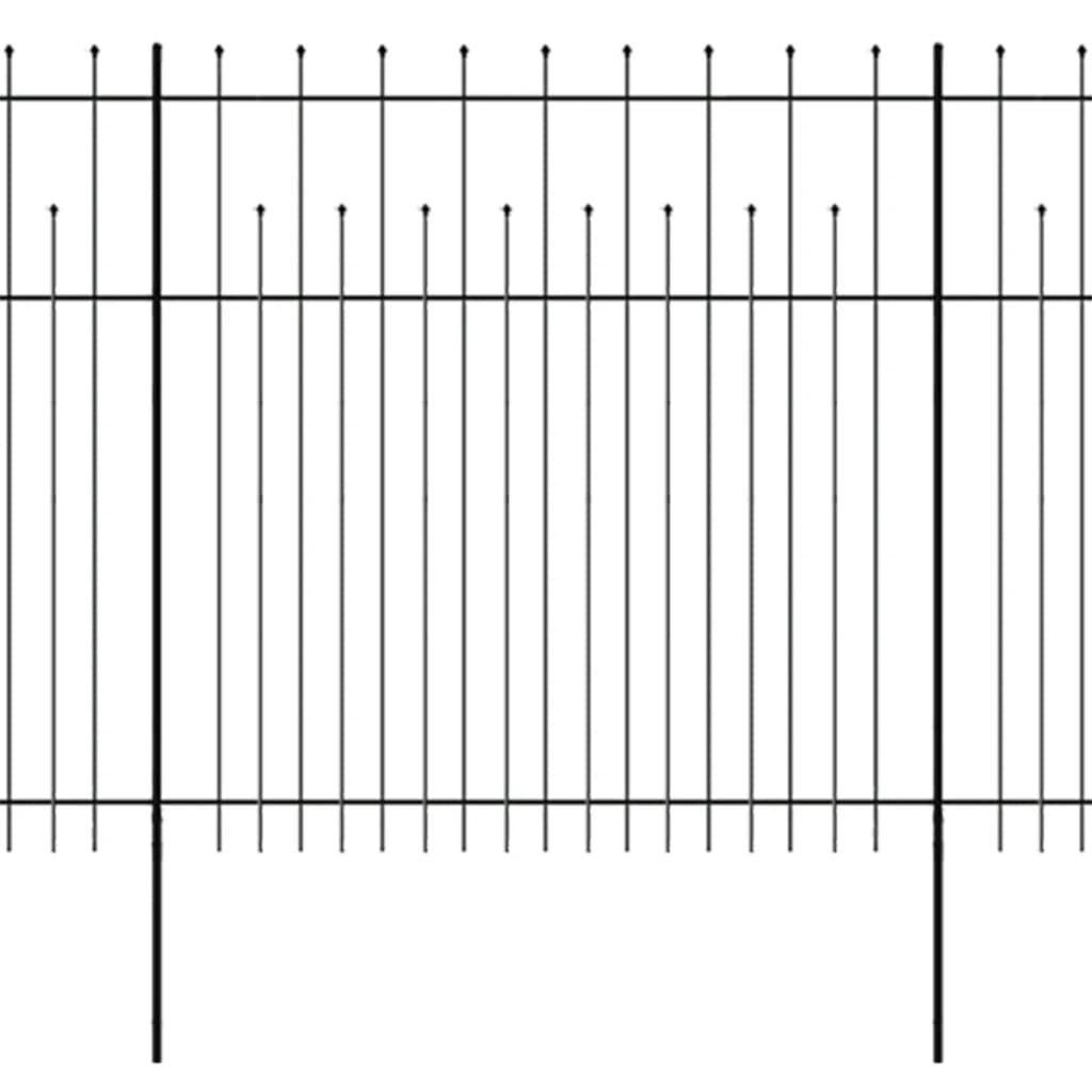 vidaXL Okrasný bezpečnostní plot ocelový 600 x 200 cm