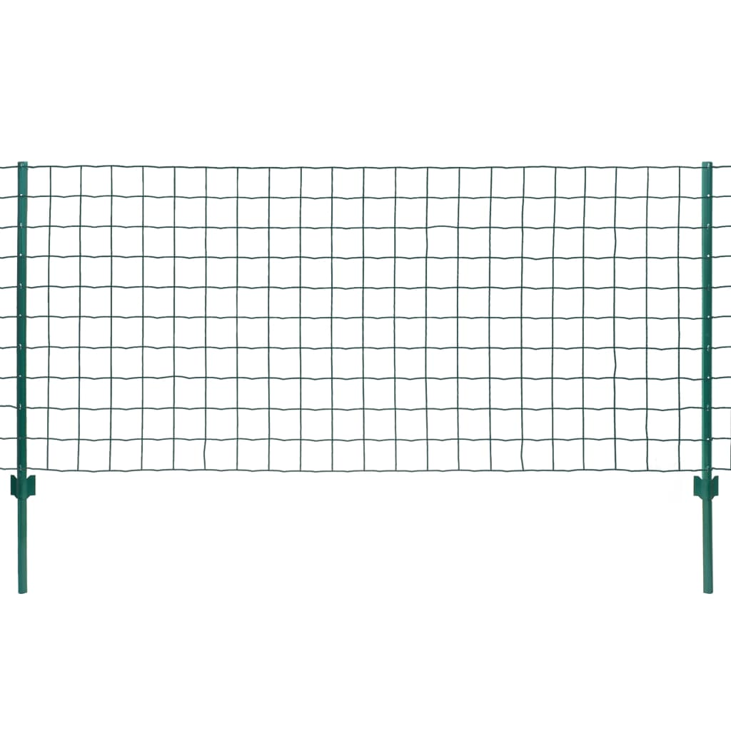 vidaXL Metallzaun-Set 20 x 1 m Stahl Grün
