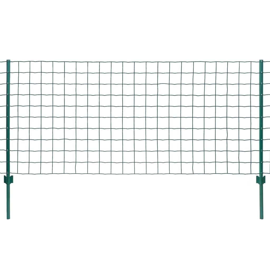 vidaXL Metallzaun-Set 20 x 0,8 m Stahl Grün