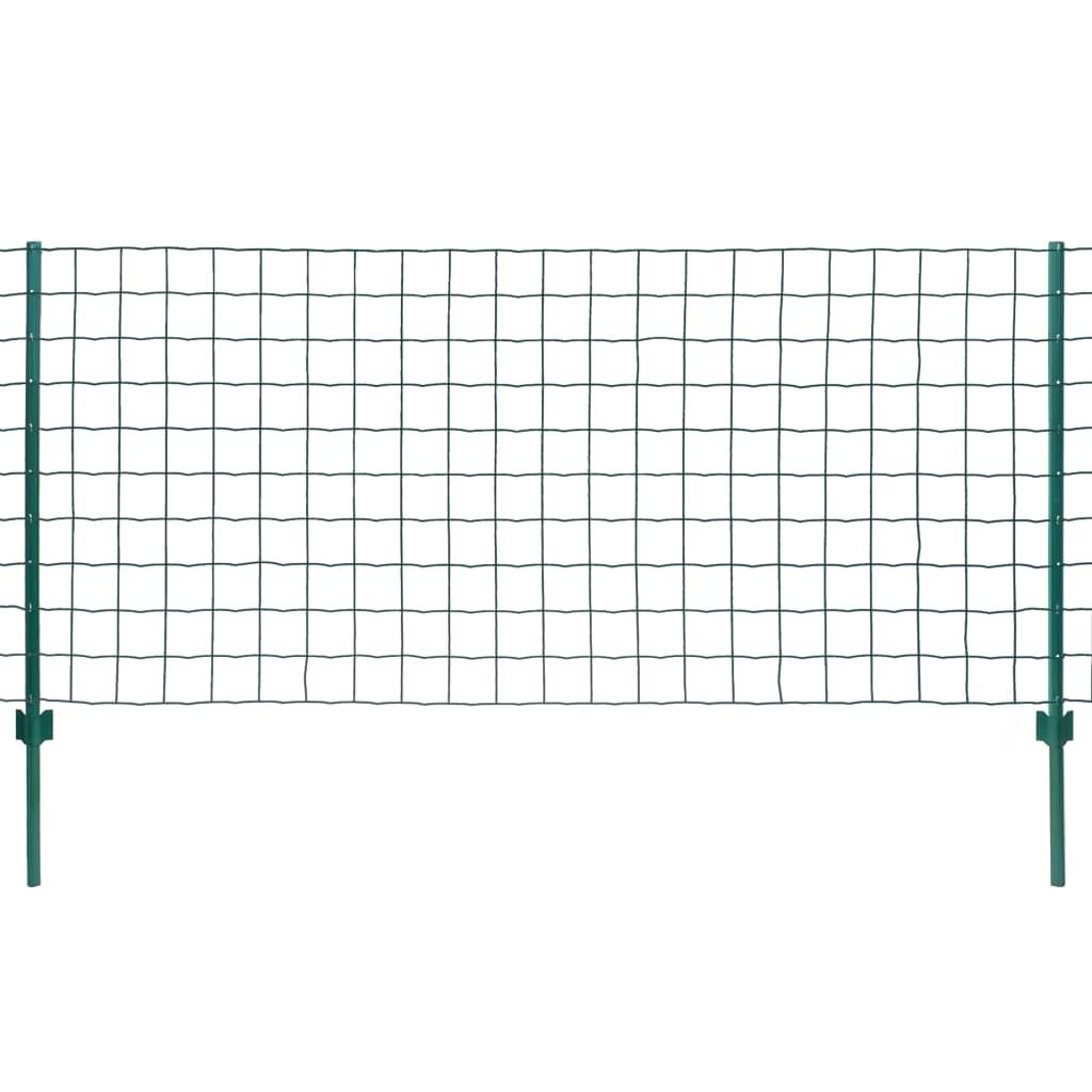 vidaXL Metallzaun-Set 20 x 1,2 m Stahl Grün