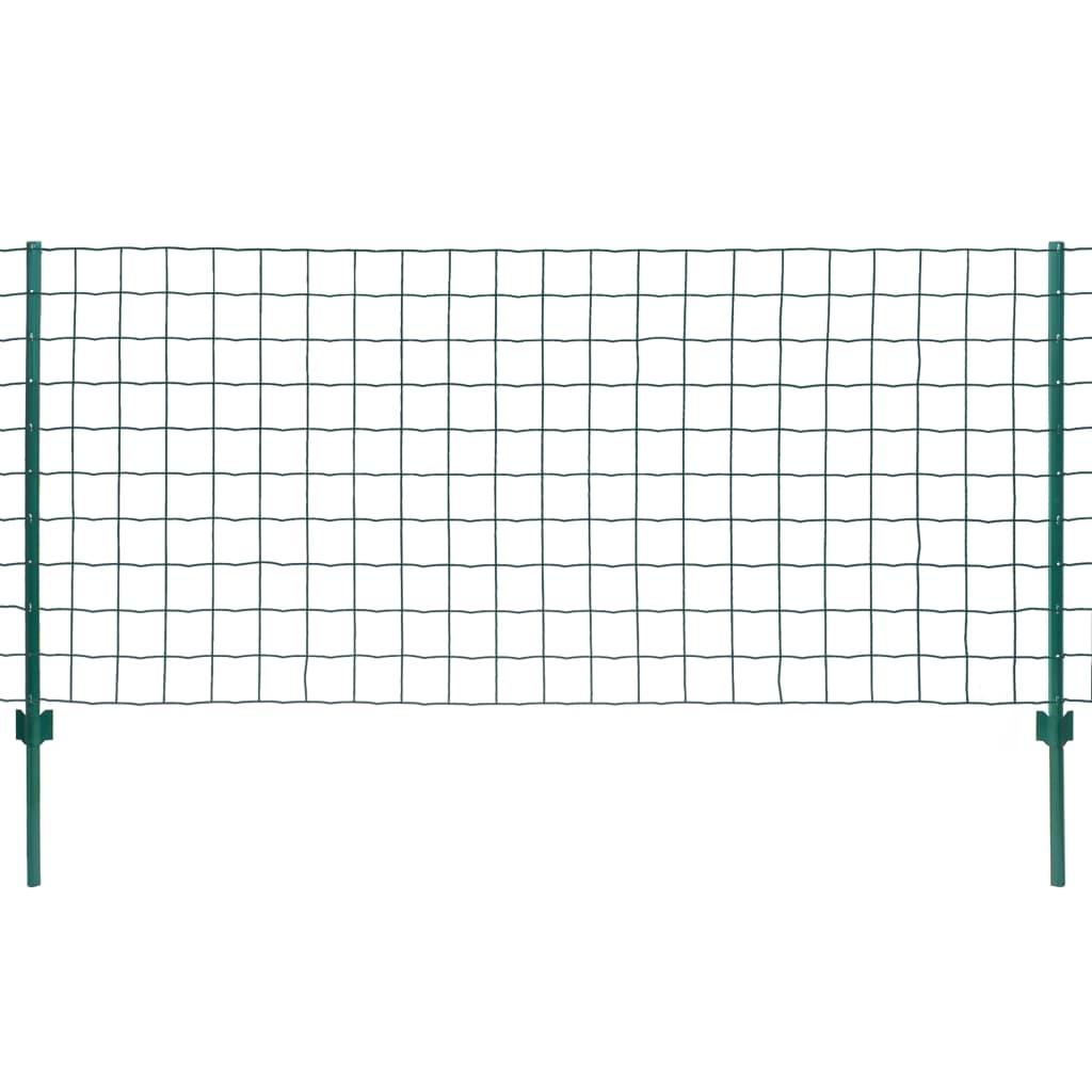 vidaXL Metallzaun-Set 20 x 1,5 m Stahl Grün