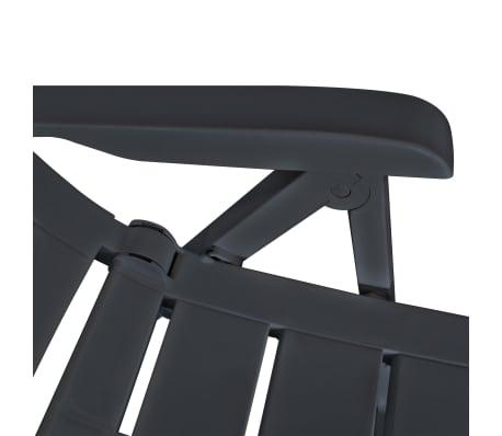vidaXL Verstellbare Gartenstühle 2 Stk. Kunststoff Anthrazit[7/8]