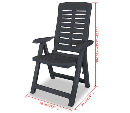 vidaXL Verstellbare Gartenstühle 2 Stk. Kunststoff Anthrazit[8/8]