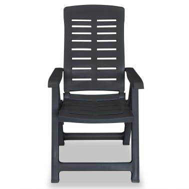 vidaXL Verstellbare Gartenstühle 2 Stk. Kunststoff Anthrazit[5/8]