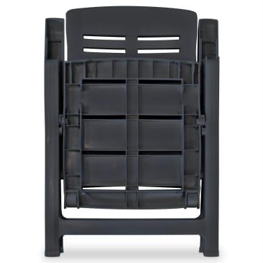 vidaXL Verstellbare Gartenstühle 2 Stk. Kunststoff Anthrazit[6/8]