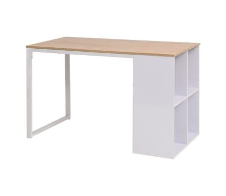 vidaXL Pisalna miza 120x60x75 cm barva hrasta in bela