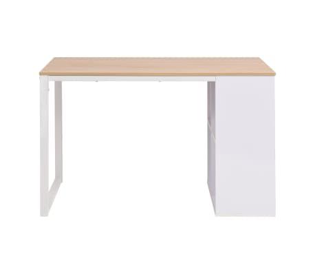 vidaXL Rašomasis stalas, 120x60x75cm, balta ir ąžuolo spalva[2/7]