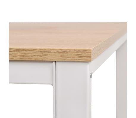 vidaXL Rašomasis stalas, 120x60x75cm, balta ir ąžuolo spalva[6/7]