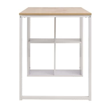 vidaXL Rašomasis stalas, 120x60x75cm, balta ir ąžuolo spalva[5/7]