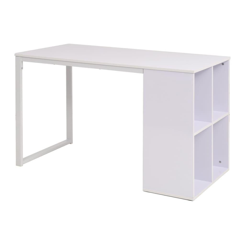 vidaXL Secretária 120x60x75 cm branco