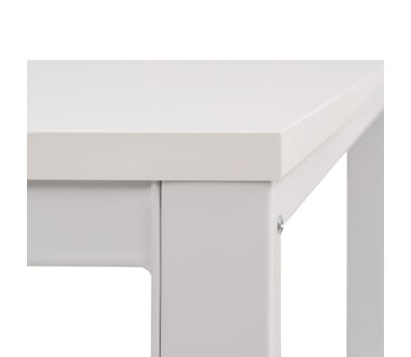 vidaXL Table d'écriture 120 x 60 x 75 cm Blanc[6/7]