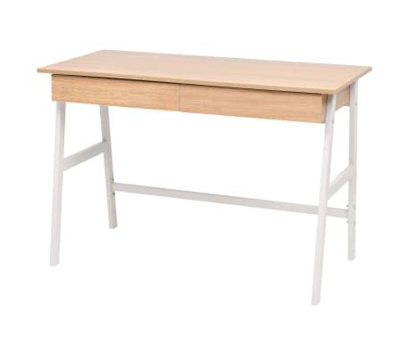 vidaXL Skrivbord 110x55x75 cm ekfärg och vit