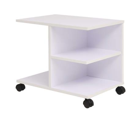 Vidaxl estanter a con ruedas 50x35x42 cm blanca - Estanteria con ruedas ...