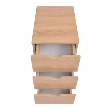 vidaXL Dulap cu sertare, 33 x 45 x 60 cm, stejar[3/6]