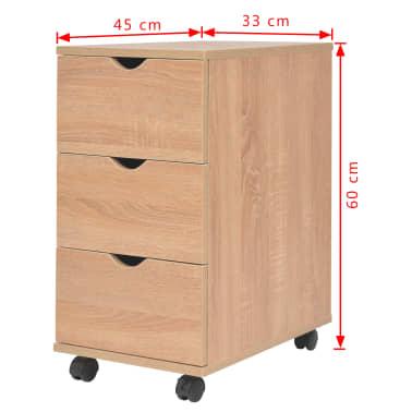 vidaXL Dulap cu sertare, 33 x 45 x 60 cm, stejar[6/6]