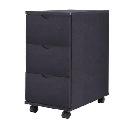 vidaXL Dulap cu sertare, 33 x 45 x 60 cm, negru