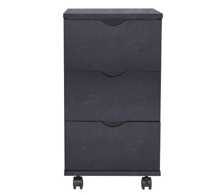 vidaXL Komoda, 33x45x60cm, juodos spalvos[2/6]