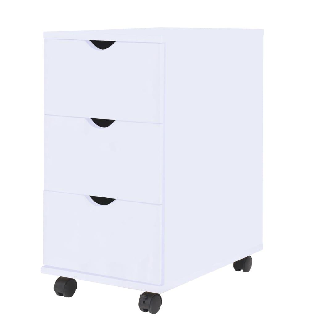 Komoda se zásuvkami 33 x 45 x 60 cm bílá