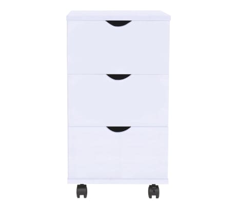 vidaXL Dulap cu sertare, 33 x 45 x 60 cm, alb[2/6]