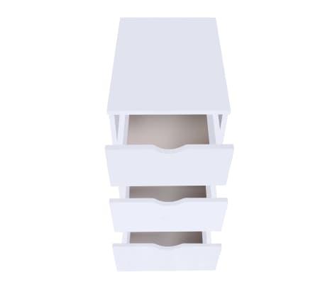 vidaXL Dulap cu sertare, 33 x 45 x 60 cm, alb[3/6]
