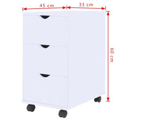 vidaXL Dulap cu sertare, 33 x 45 x 60 cm, alb[6/6]