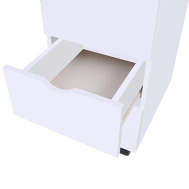 vidaXL Dulap cu sertare, 33 x 45 x 60 cm, alb[5/6]