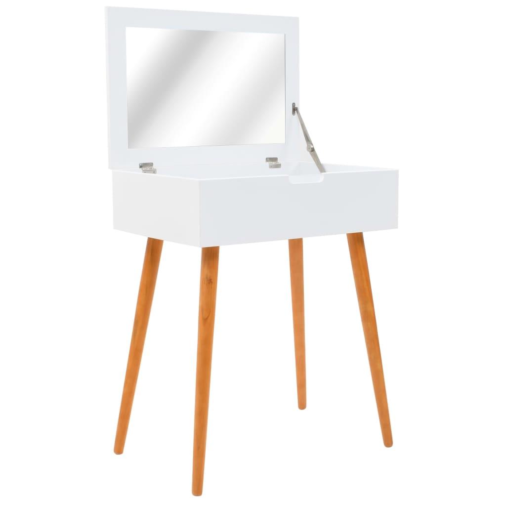 vidaXL Masă de toaletă cu oglindă, MDF, 60 x 40 x 75 cm poza 2021 vidaXL