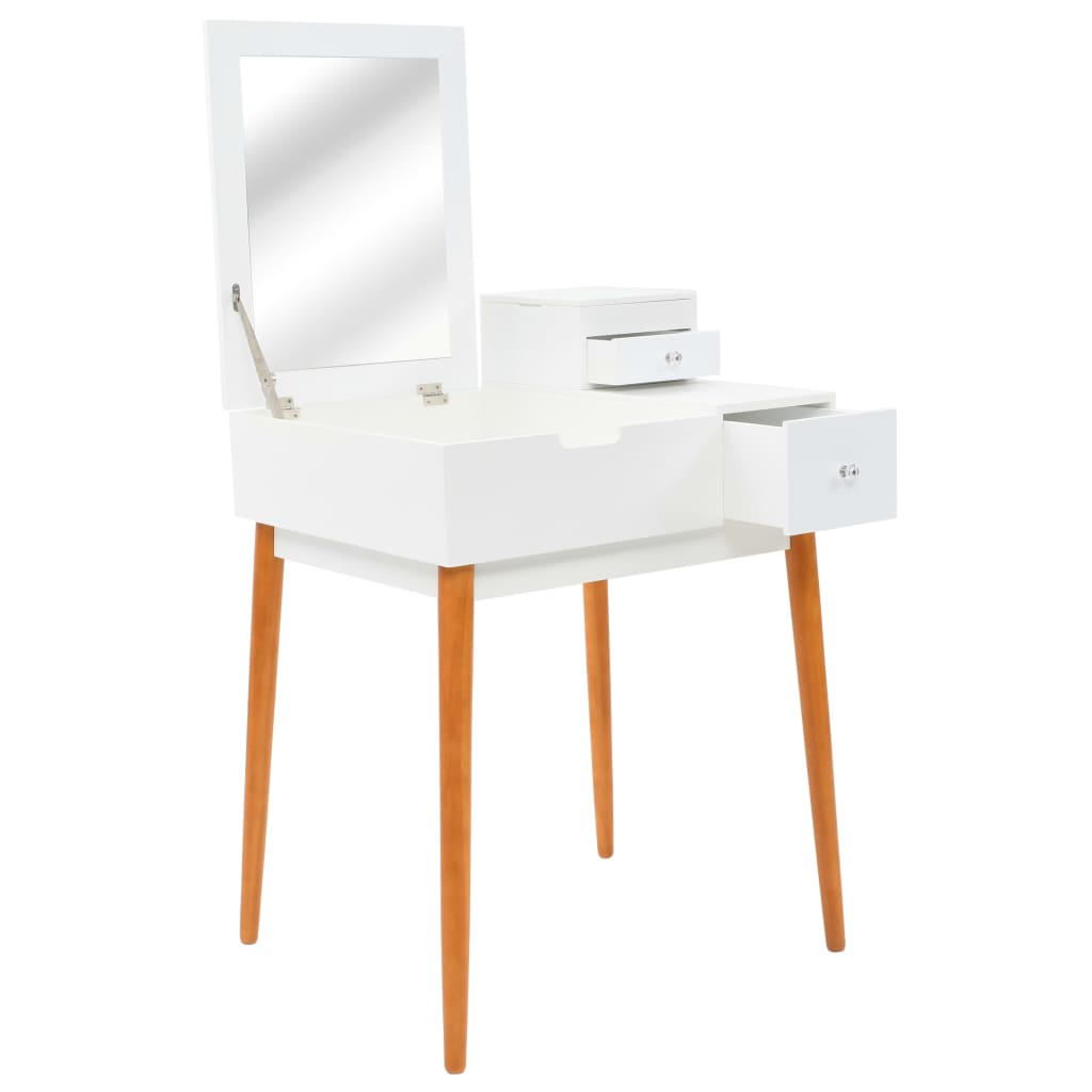 vidaXL Masă de toaletă cu oglindă, MDF, 60x50x86 cm poza 2021 vidaXL