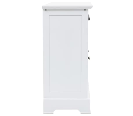 vidaXL Komoda su 3 durimis, MDF ir pušies mediena, 105x35x77,5cm[3/9]