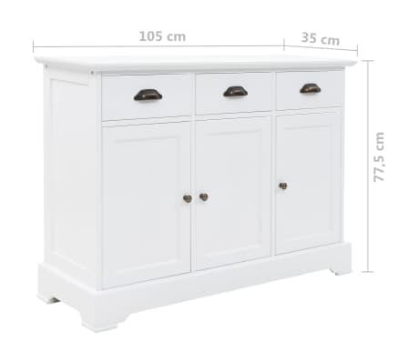 vidaXL Komoda su 3 durimis, MDF ir pušies mediena, 105x35x77,5cm[9/9]