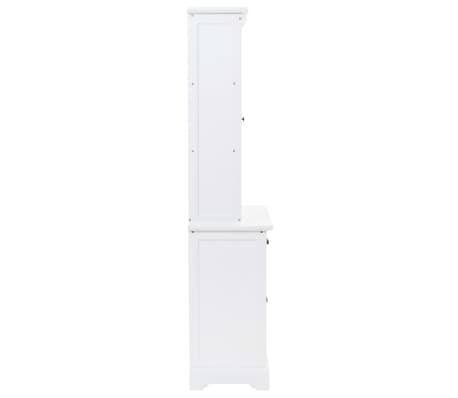 vidaXL Kredens 4-drzwiowy, MDF i drewno sosnowe, 80x40x180 cm[3/10]